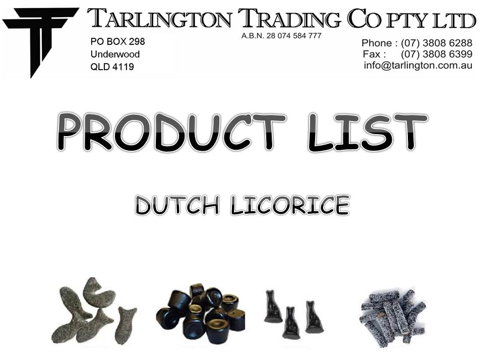 DUTCHLICORICEPRODUCTLIST